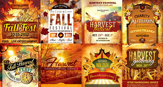 Fall Harvest Autumn Templates