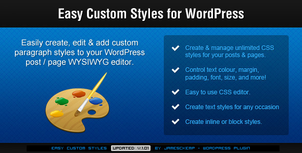 Easy Custom Styles For WordPress - CodeCanyon Item for Sale