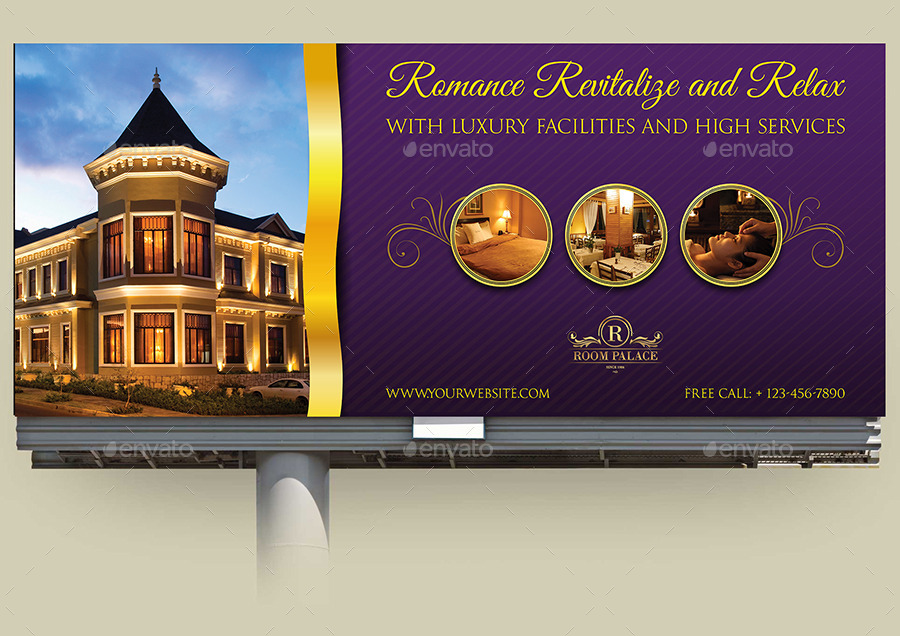 hotel billboard template by owpictures