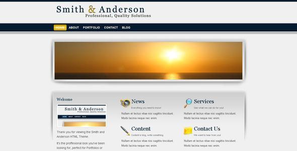 ThemeForest Smith & Anderson Business & Portfolio Template 51650