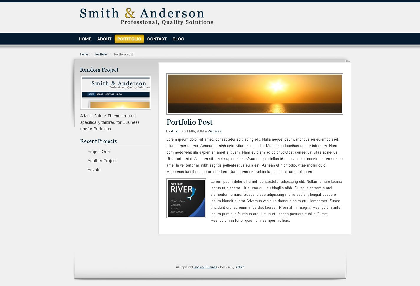 Smith anderson business portfolio template by for Company portfolio template doc