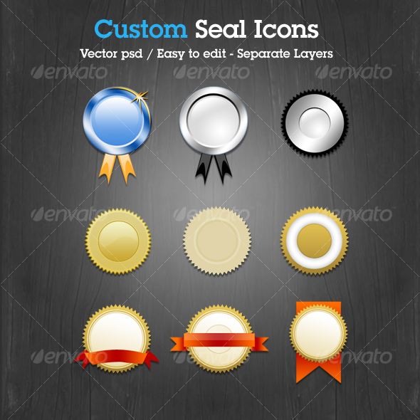 Custom Seal Icons - Decorative Graphics