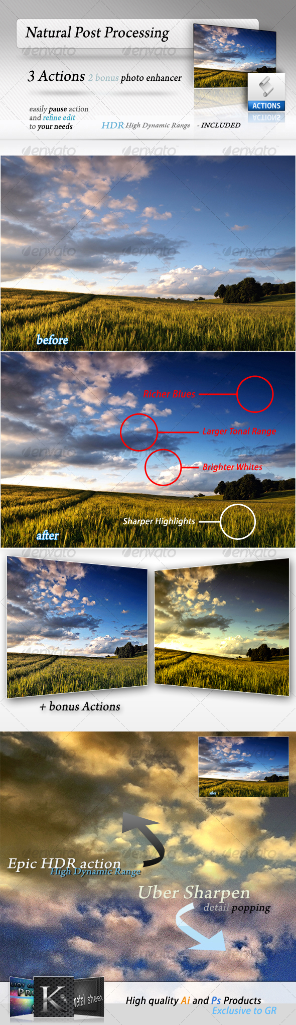 GraphicRiver Post Processing Actions 44255