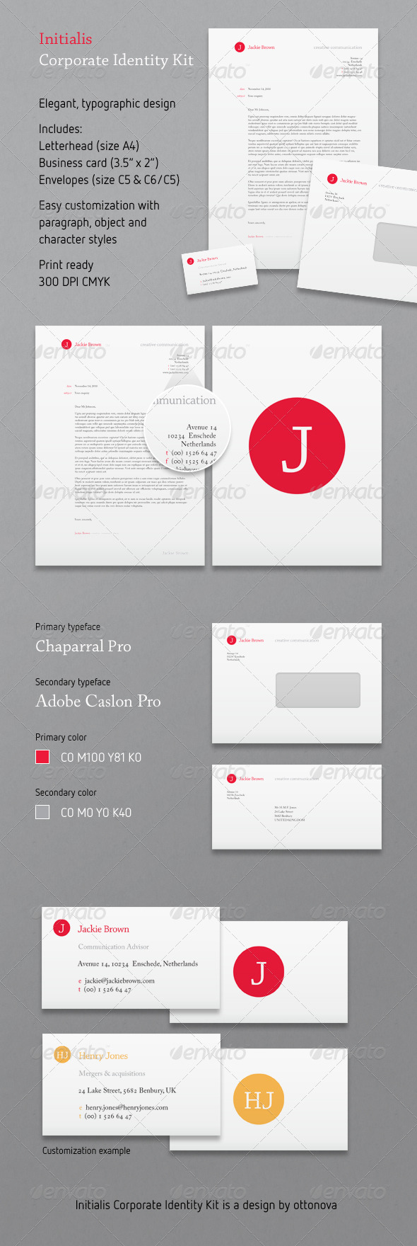 Initialis Corporate Identity Kit - Stationery Print Templates