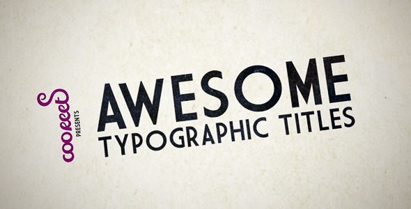 HD Kinetic Typography VideoHive -   Openers  Retro 1251769