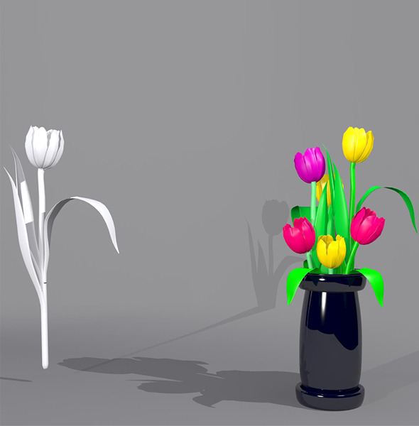 Tulip Flower Package  - 3DOcean Item for Sale