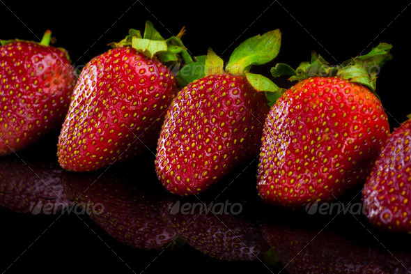 Strawberry. Close up. - Stock Photo - Images