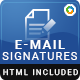 10 Email Signature Templates - HTML Files Included