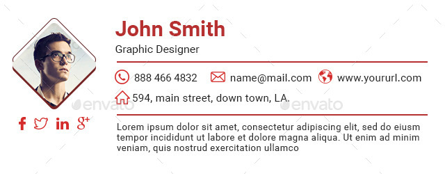 10 email signature templates html files included by doto graphicriver. Black Bedroom Furniture Sets. Home Design Ideas