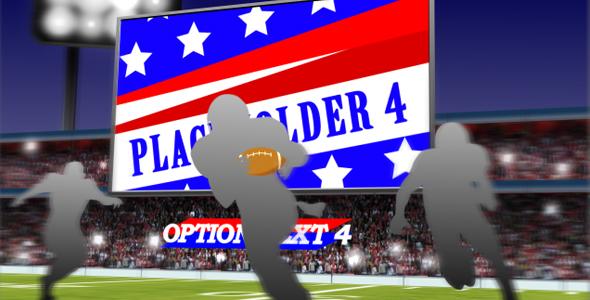 Football 3D Scene