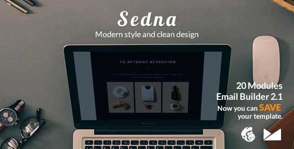 Sedna Email Template + Emailbuilder 2.1