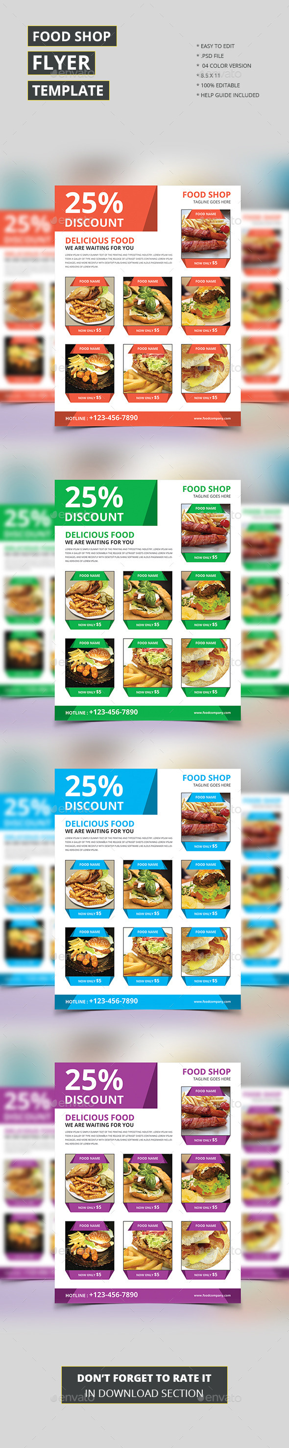 Food Shop Flyer Template