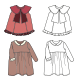 Technical Drawings of Children's Clothes