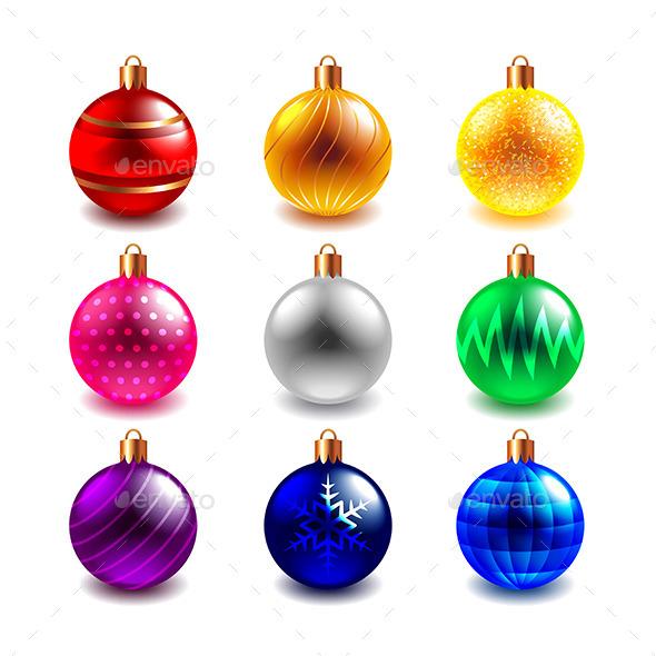 Christmas Ball Vector Set