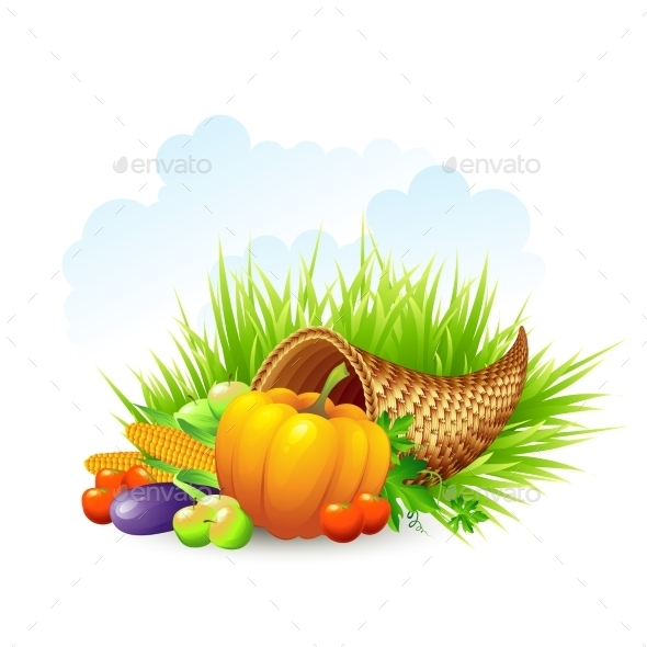 Thanksgiving Card Wicker Basket Background