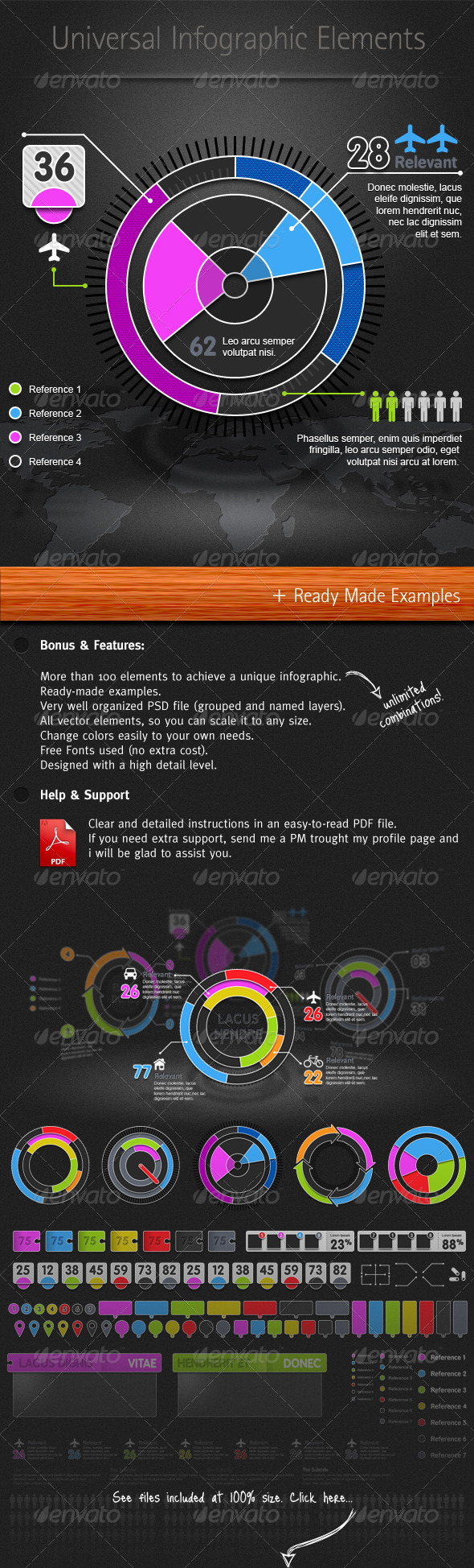 GraphicRiver Universal Infographic Elements 156314