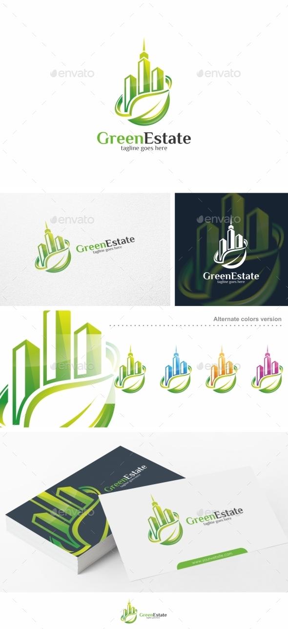 Green Estate / Real Estate - Logo Template
