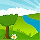 Green Land LANDSCAPE - trees - GraphicRiver Item for Sale