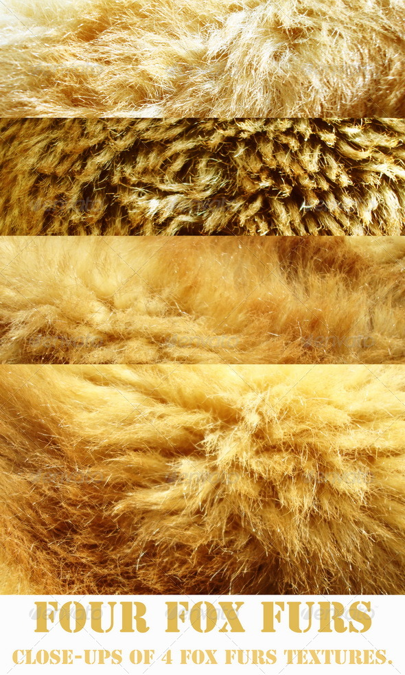 Four Fox Furs - Fabric Textures