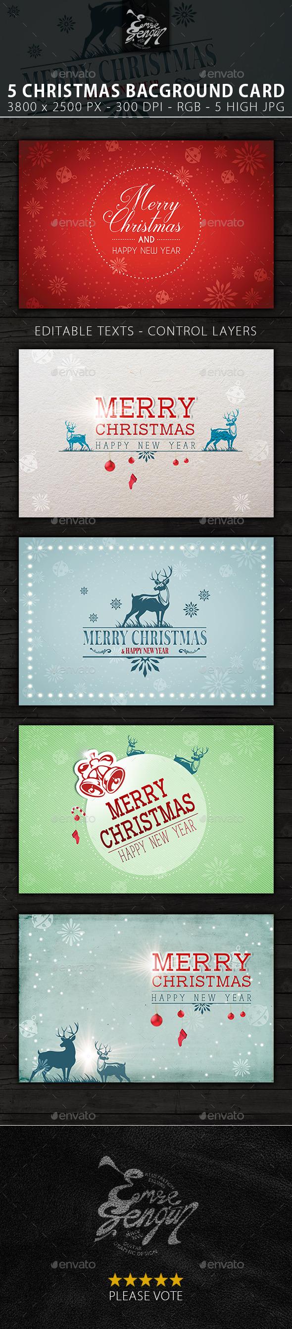 Merry Christmas Card u0026 Backgrounds Vol.2