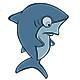 Set of Cartoon Sharks