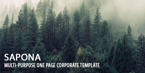 preview. large preview - Sapona | Multi-Purpose One Page Corporate Template