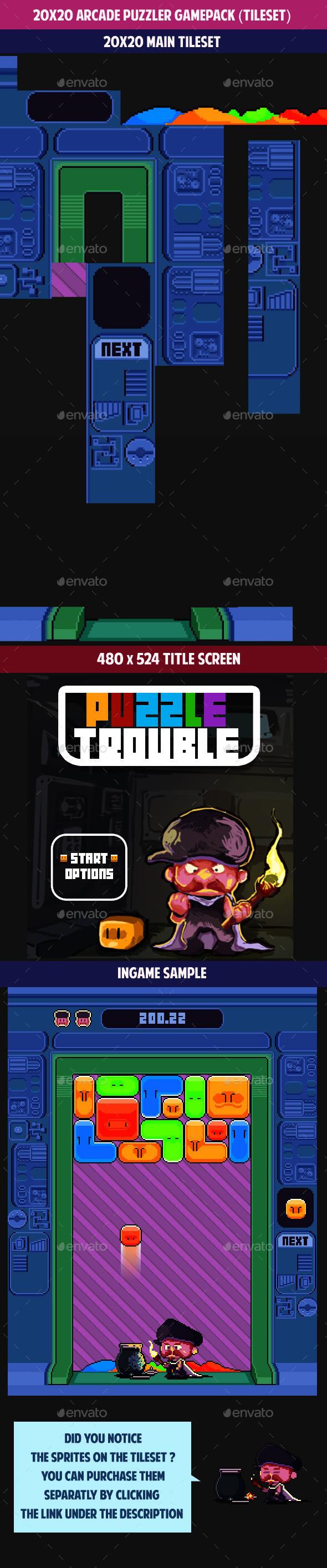 20x20 Arcade PUZZLER gamepack (tileset) (Tilesets)