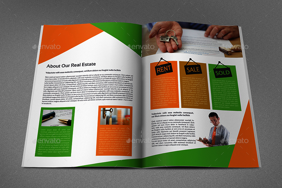 Real Estate Brochure Template 16 Pages by OWPictures – Real Estate Brochure Template