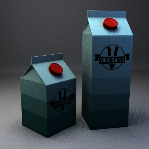 Milk Boxes - 3DOcean Item for Sale
