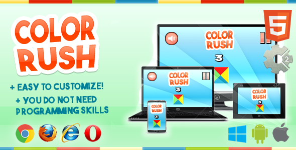 Color Rush (Game template Impossible Rush) - CodeCanyon Item for Sale