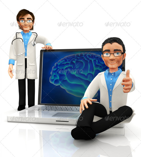 Stock Photo - PhotoDune 3D brain doctors 1302098
