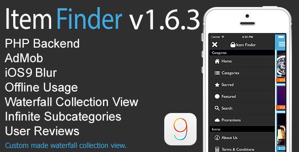 Download Item Finder MarketPlace Full iOS App v1.6.3 nulled download