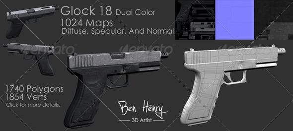 3DOcean Glock 18 156508