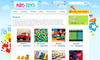 Download website template Kids Toys - 9 Page HTML Site - Shopping Cart