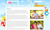 Download Kids Toys - 9 Page HTML Site - Shopping Cart