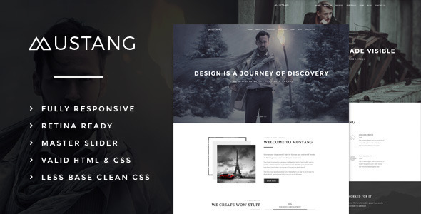 Mustang - Bold & Minimal HTML5 Template