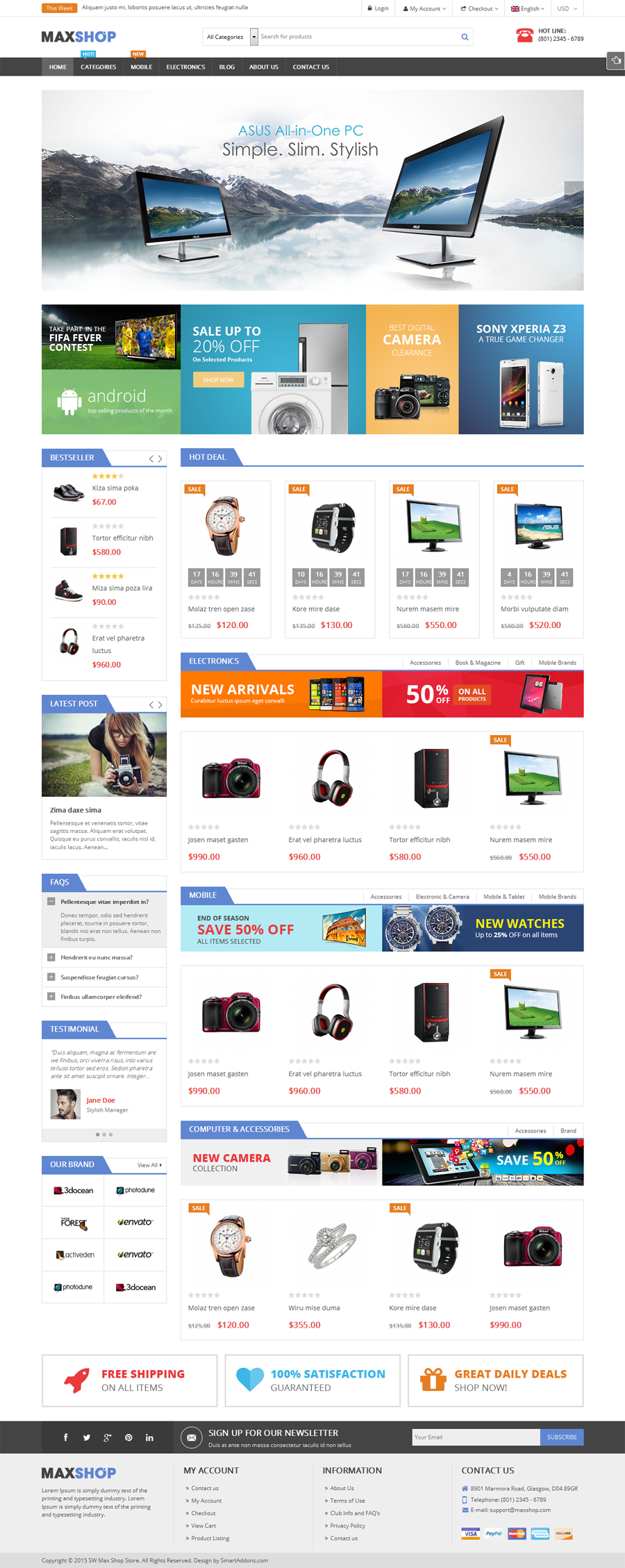 Maxshop Responsive Wordpress Woocommerce Theme