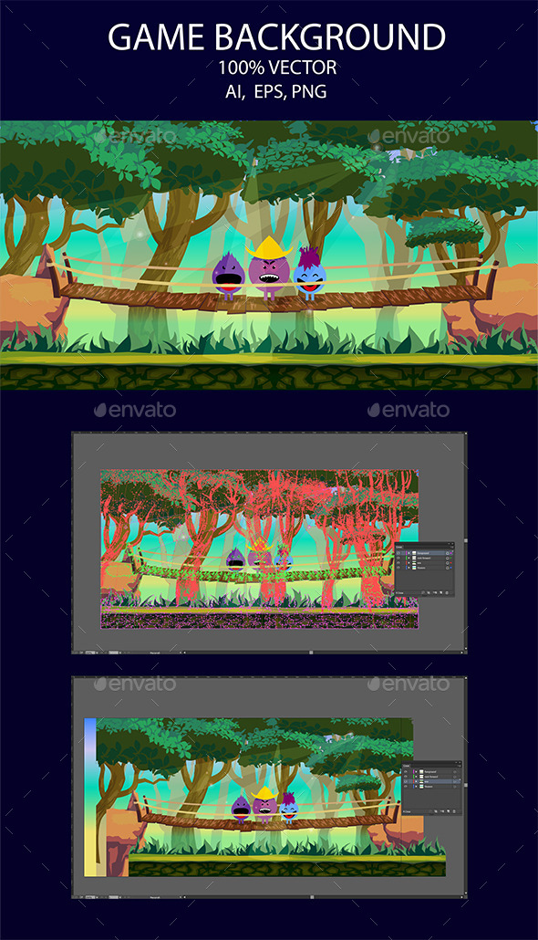 Game Background Forest (Backgrounds)
