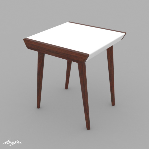 Retro Design Coffee Table - 3DOcean Item for Sale