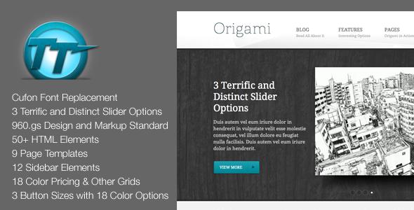 Origami HTML Theme