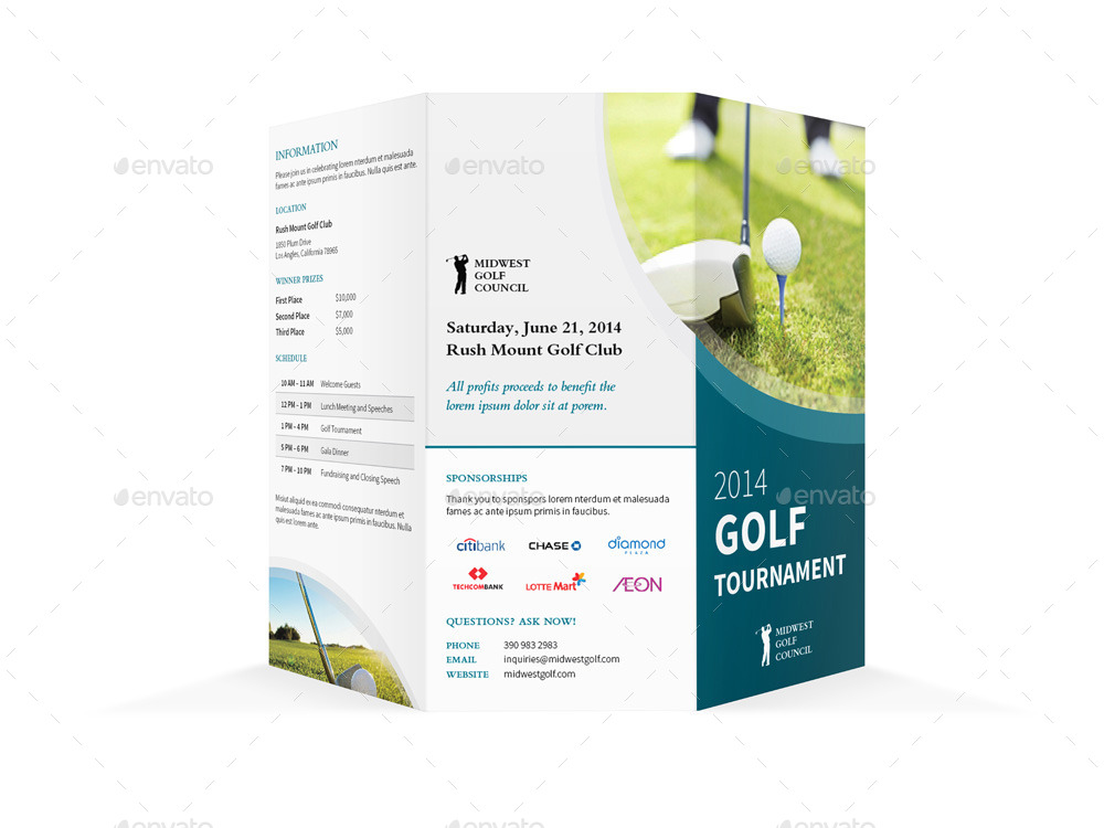 golf tournament program template - golf tournament trifold brochure by mike pantone