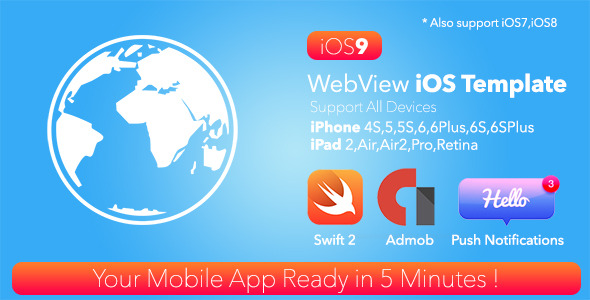 CodeCanyon WebView iOS Template & Admob Push Swift 2 13015249