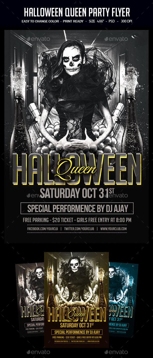Halloween Queen Party Flyer