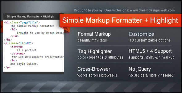 Simple Markup Formatter + Highlight