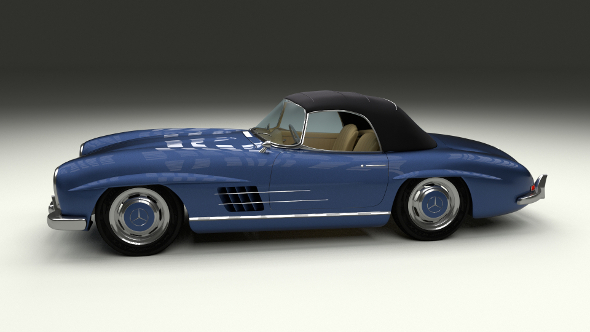 Mercedes 300SL Roaster Top - 3DOcean Item for Sale