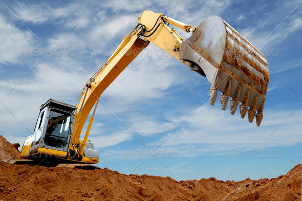 Stock Photo - PhotoDune Excavator loader in sandpit 1304227