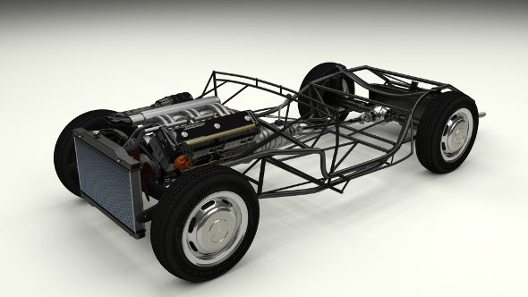 Mercedes 300SL Roadster Chassis - 3DOcean Item for Sale