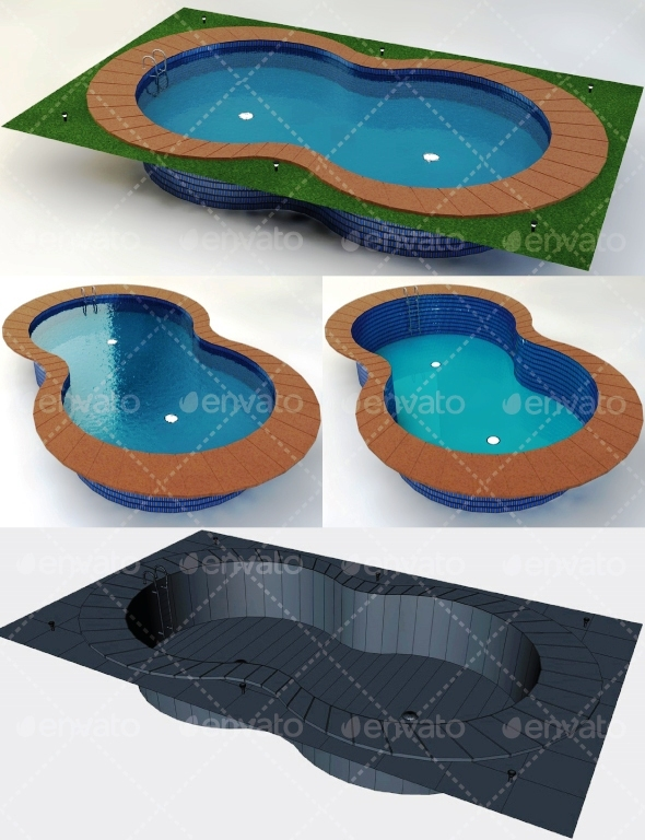 Swimming Pool Low Poly - 3DOcean Item for Sale