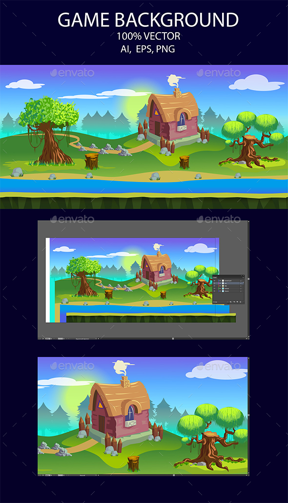 Game Background Country House (Backgrounds)