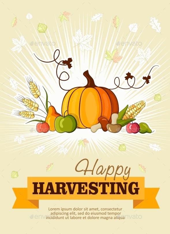 Happy Thanksgiving Day Celebration Flyer